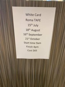TAFE White Card training