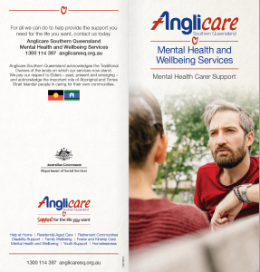Anglicare Mental Health and Well Being