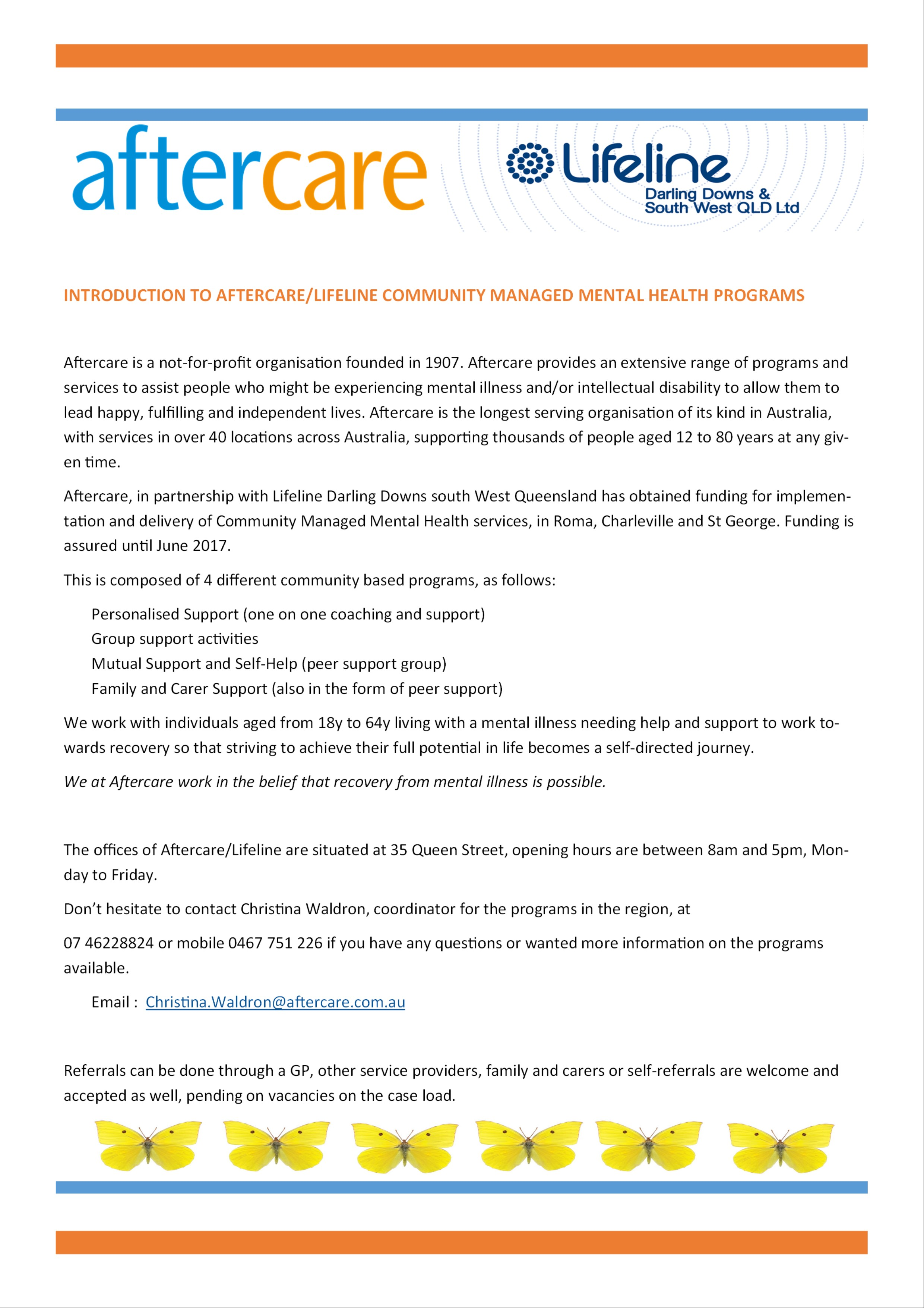 Intro to Aftercare