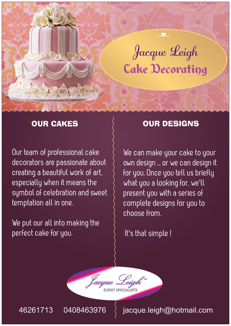 Jacque large cake decorating
