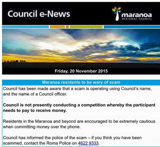 Scam Council E News