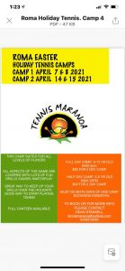 Roma Easter Tennis Camps