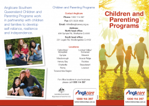 Anglicare Children and Parenting Programs