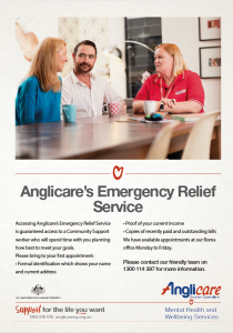 Anglicare Emergency Relief Service