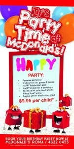McDonalds Birthday Parties