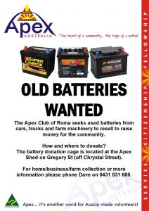 Old Batteries Wanted