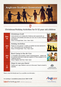 Anglicare Holiday Activities