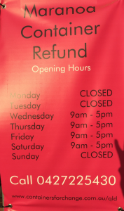 Maranoa Container Refund Times
