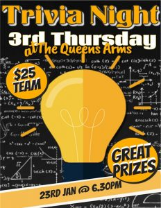Trivia Night at the Queens Arms