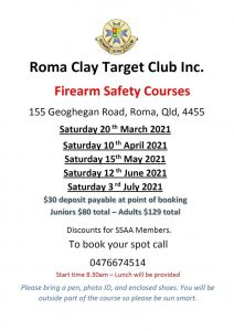 Firearm Training Courses 2021