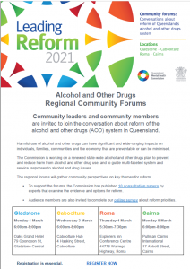 Community Forum Alcohol and Other Drugs