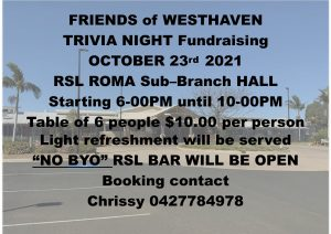 Friends of Westhaven - trivia night